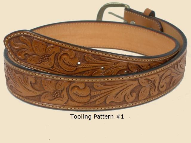 belt tooled leather
